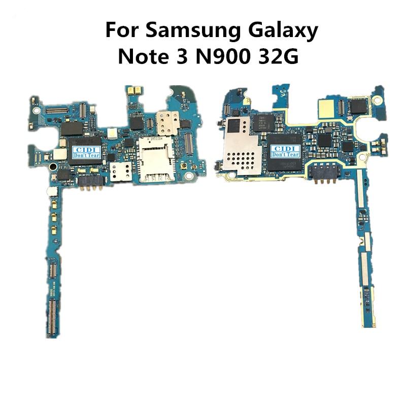 Полный рабочий используется оригинальный доска для Samsung Galaxy Note3 Примечание 3 N900 32 г разблокировать Материнские платы логика материнской плате