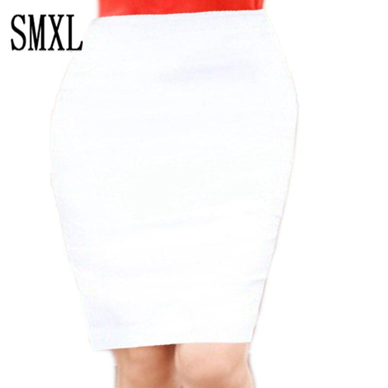 xs m xxl xl skirt occupation black white Women Office Formal Pencil Casual Sexy Slim High Waist Skirts all-match
