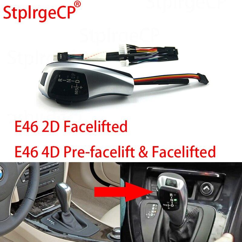 Pour BMW 3 E46 série 2D 5D facelifté 4D pré-facelift & facelifté LHD automatique mise à jour Look LED pommeau de levier de vitesse pièces de voiture