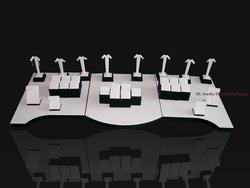 Schwarz Mit Weiß Leder Schmuck Display Regal Set Schaufenster Für Ohrring Kette Anhänger Halskette Schmuck Ständer Halter Rack