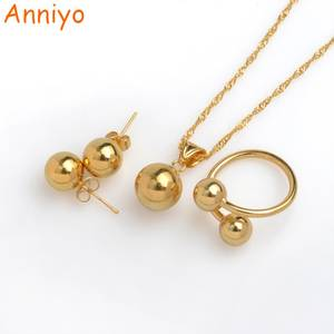 Anniyo Bead Necklace Earrings Ring Jewelry sets African