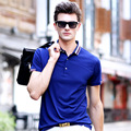 2017 New Summer Men's POLO Shirt Stripe Collar Hit Color Fashion Leisure Male Brand Polo Shirt Men's Clothing