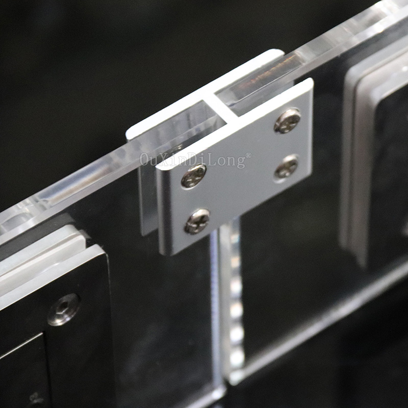 Wholesale 100PCS Aluminum Alloy Glass Clamps Clips 2Ways Corner Frame Shelf Support Brackets Connectors No Drilling for 10 12mm in Glass Clamps from Home Improvement
