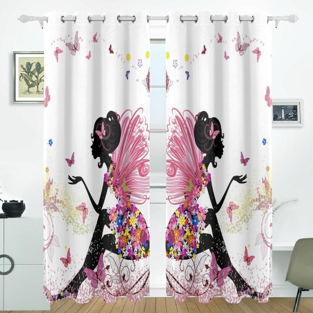 Papillon Rideaux Rideaux Panneaux Assombrissement Blackout Oeillet Paravent  Pour Patio Fenêtre Coulissante Porte En Verre 55x84