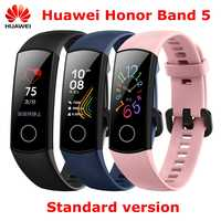 En stock Original Huawei Honor Band 5 NFC oxymètre de sang en temps réel bracelets intelligents couleur écran tactile Fitness étanche