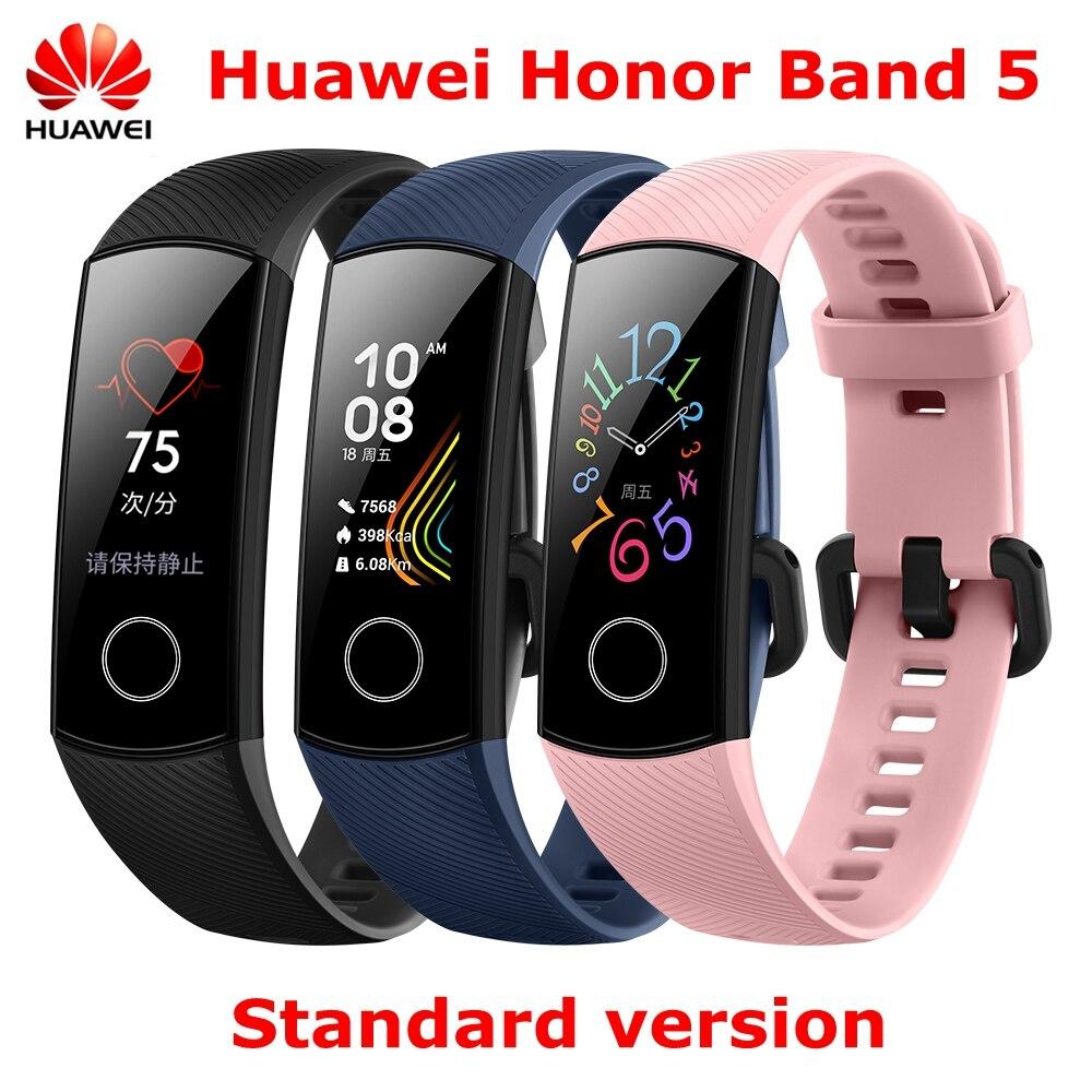 En stock Original Huawei Honor Band 5 NFC oxymètre de sang en temps réel bracelets intelligents couleur écran tactile Fitness étanche