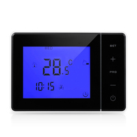 Programmable Wall hung Boiler Heating Thermostat 5A Digital Room Temperature Controller Touch Screen LCD Thermostat