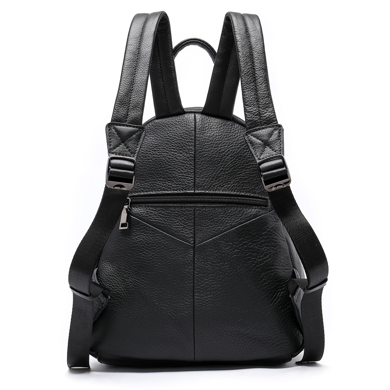 Westal 여성 배낭 정품 가죽 학교 가방 10 대 소녀 가방에 대 한 블랙/여행 가방에 대 한 노트북 mochila feminina-에서백팩부터 수화물 & 가방 의  그룹 2