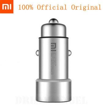 Oryginalna ładowarka samochodowa Xiao mi mi Dual USB Max 5 V/3,5a w stylu metalowym
