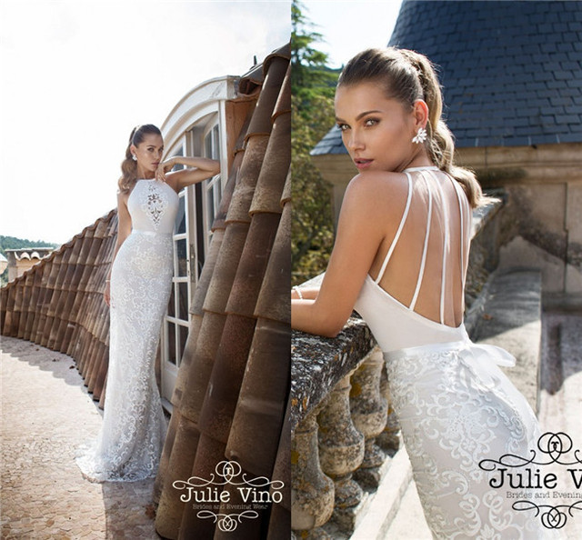 Thailand Ivory Satin Expensive Lace Crochet Israel Designer Julie Vino Indian Extrem Sexy Backless Ebay Big