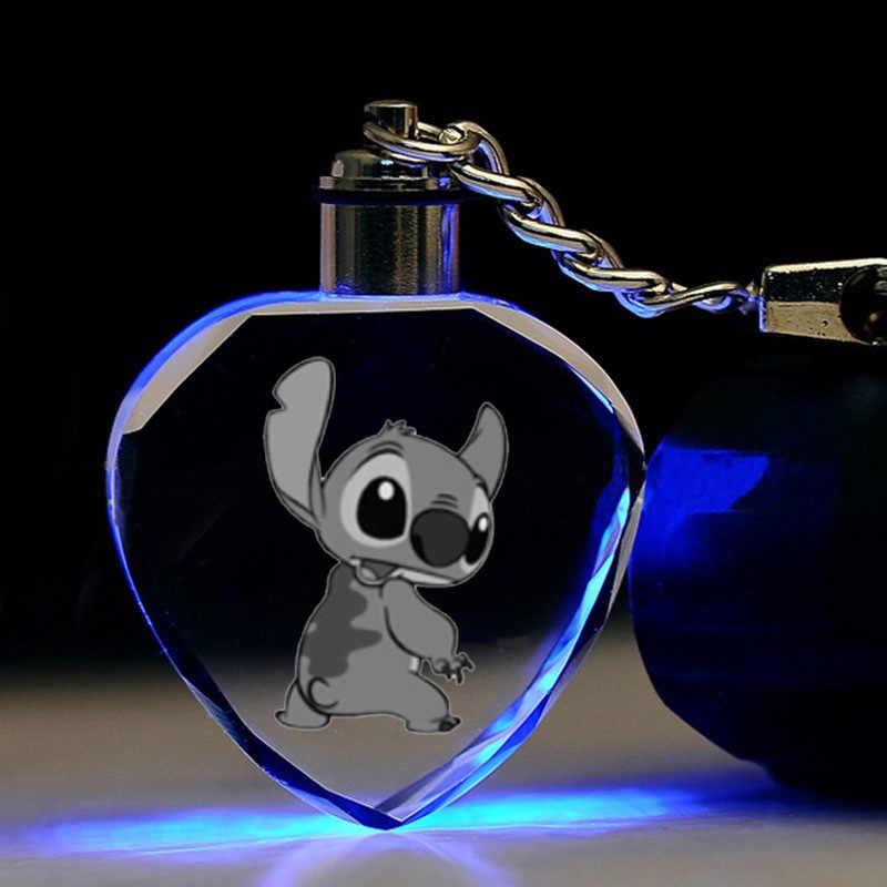Coração LEVOU chaveiro moda bonito engraçado dos desenhos animados do Ponto pingente de cristal chaveiros Llaveros portachiavi Acessórios presentes toy kids