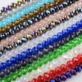 40Pcs/Lot 8mm Mixed Faceted Glass Crystal Rondelle Spacer Beads For Jewelry Making 17Colors In Total Free Shipping No.CB12
