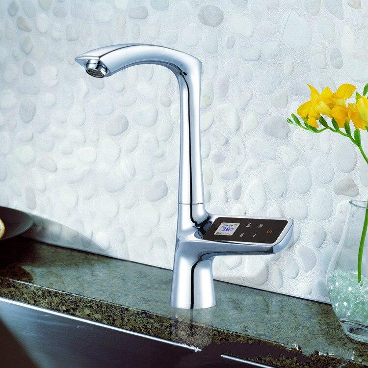 LCD Display Touchscreen Smart Thermostat Waschbecken Wasserhahn Elektrische Mischbatterie Digitale Thermostat Wasserhahn - 2