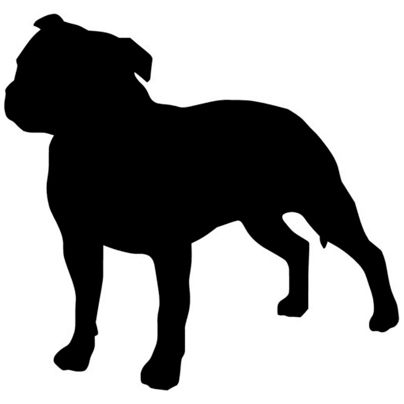 14*13.5CM Lovely Staffordshire Bull Terrier Dog Window Decorative Decals Car Covers Scratch Fashion Stickers C6-0083