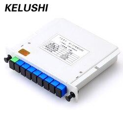 KELUSHI волокно устройство разветвления 1x8 коробка кассета карты Сплиттер Модуль PLC разъем SC волокно оптического волокна PLC инструмент