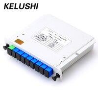 Free Shipping 1x8 LGX Box Cassette Card Inserting PLC Splitter Module 1 8 8 Ports Fiber