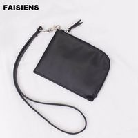 2017 Casual Wallet For Women Solid Long Wallet Lanyard White Black Pink Green And Gray Colors