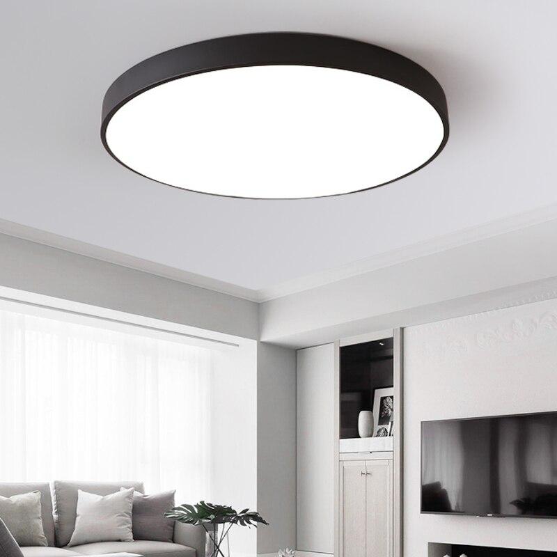 48 W Ultra-mince LED plafond éclairage haut 5 cm plafonniers pour le salon lustres plafond le Hall moderne plafonnier