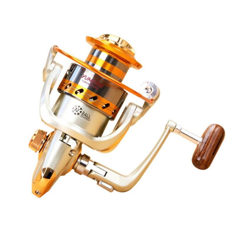 Fishing Spinning Reel EF 1000 7000 Series 12BB Bearing Metal Hand Wheel Ocean Fishing Reels Saltwater in Fishing Reels from Sports Entertainment