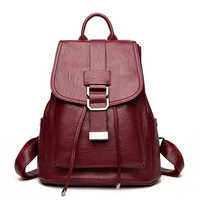 Fashion 2017 Designer High Quality Women Leather Backpack School Bags For Teenagers Girls Bag Vintage Backpacks Mochilas Escolar