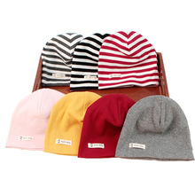 Autumn Winter Baby newborn hat Solid colors Beanies hats for baby Cotton infant girl boy with different color