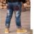 Ropa para niños 2016 nueva sección de otoño/modelos de invierno, además de terciopelo engrosamiento pantalones vaqueros muchacho niños pantalones de niño grande trous