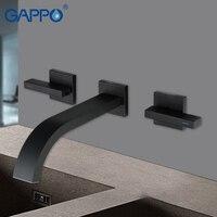 GAPPO basin faucet mixer black bathroom basin mixer tap waterfall faucet bathroom taps torneira wall mounted basin faucet