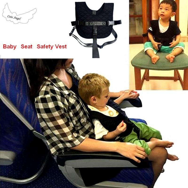 Kids Safety Vest Baby Travel Train Plane Flight Vest Chair Safety Harness Airplane Clip Strap Free