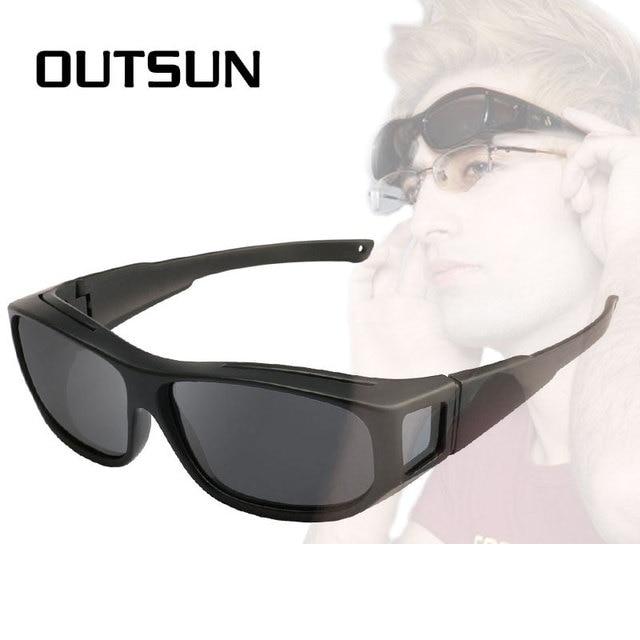 5514f9b3498 OUTSUN Polarized Fit Over Sunglasses Fishing Sun Glasses Men Women  LensCovers glasses Wear Over Prescription Glasses