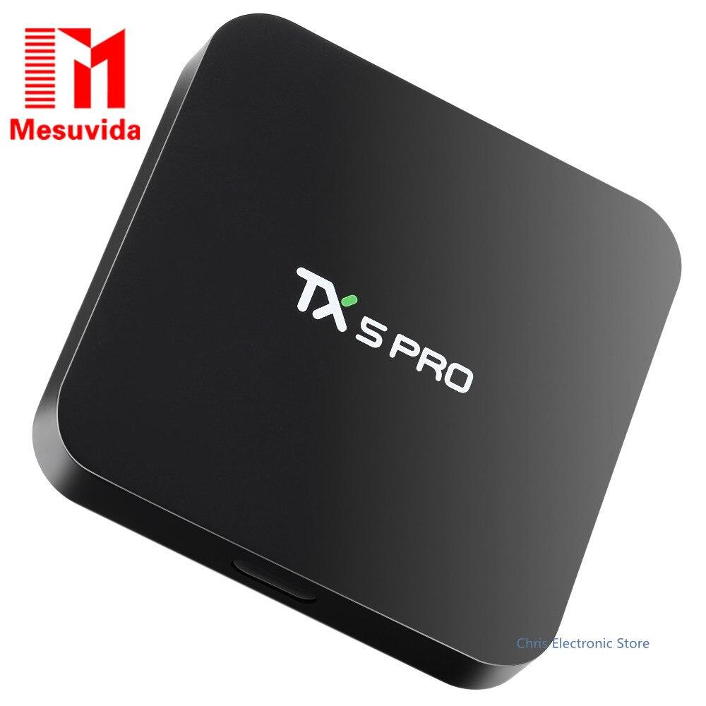 Mesuvida TX5 Pro TV Box Android 6.0 Smart TV Box H.265 Quad Core Amlogic S905X Bluetooth 4.0 Set Top Box 2.4G 5.8G Media Player mesuvida 2gb 16gb nexbox a95x smart tv box android 6 0 amlogic s905x quad core 64bit 4k x 2k h 265 many movies set top box