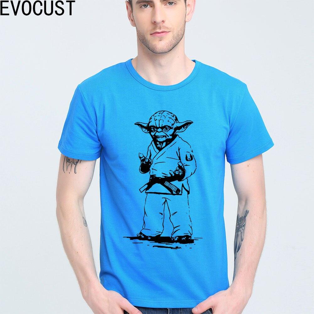 7f4d586f4ebb5c STAR WARS yoda JUDO JIU JITSU Koszulka Góry Lycra Bawełna Mężczyzna T  koszula Nowy Projekt Wysokiej Jakości Cyfrowego Druku Atramentowego