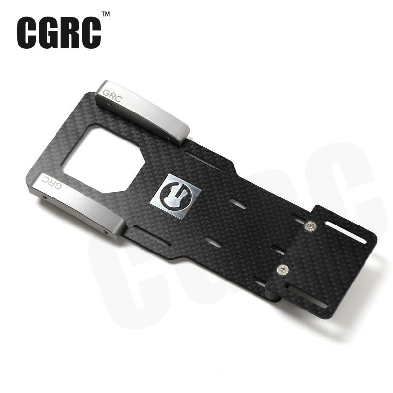 1/10 crawler rc Bas Center De Gravité Batterie Support de Carbone fibre Batterie/Esc Réinstallation Plaque Pour Axial 90047