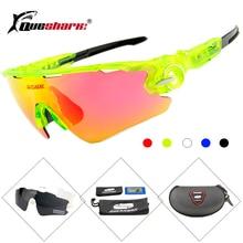 Men Women 3 Lens Polarized Bike Sunglasses Mountain Road Bicycle Glass