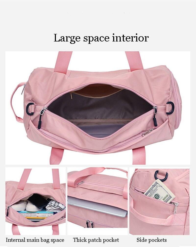 eb7c228bb59f ... Stylish Outdoor Waterproof Nylon Sports Gym Bags Men Women Girls  Training Fitness Travel Handbag Yoga Mat ...