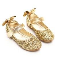 2017王女王女フラッシュ靴女の子ウェディングドレスパーティーヒール靴カジュアルシューズサイズ26-34