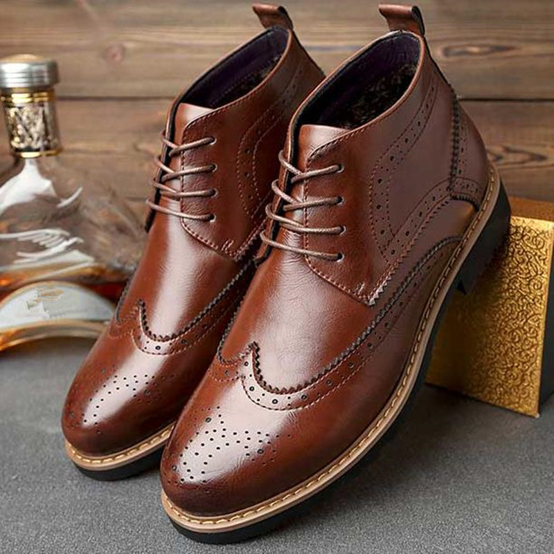 Winter men s shoes Europe style Genuine Leather Male martin boots Large size 47 48 casual
