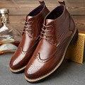 Zapatos Masculinos de Cuero Genuino del estilo de Europa de los hombres de invierno martin botas de Gran tamaño 47 48 zapatos ocasionales del algodón boty huarche