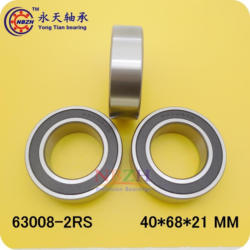 4PCS Free Shipping Excavator bearing 63008 2RS 63008-2RS 40*68*21mm 40X68X21mm Double Shielded Deep Ball Bearings Large breadth samsung rs 21 fcsw