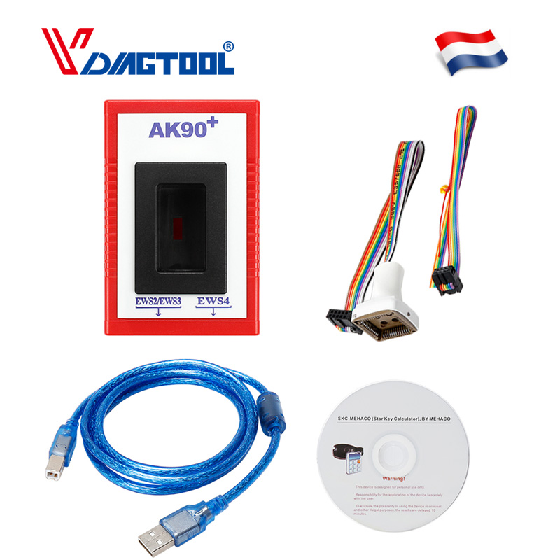 AK90 para BMW V3.19 AK90 + OBD2 programador de llaves de coche para BMW EWS de 1995-2009 AK90 programador de llaves envío gratis Coche Mini portátil ELM327 V2.1 OBD2 II Bluetooth diagnóstico coche Auto interfaz escáner azul Premium ABS herramienta de diagnóstico
