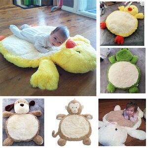 Bebê brinquedos de pelúcia animais macaco tapete de jogo do bebê super macio rastejando tapete recém-nascido tapete para crianças cobertor de jogo 80*60cm