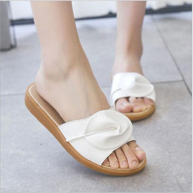 160e9fc68308eb Summer Women Slides Fashion Women Slippers Sandals Soft Soles Home Bathroom  Slippers Beach Flip Flops Shoes Woman Outside Flat
