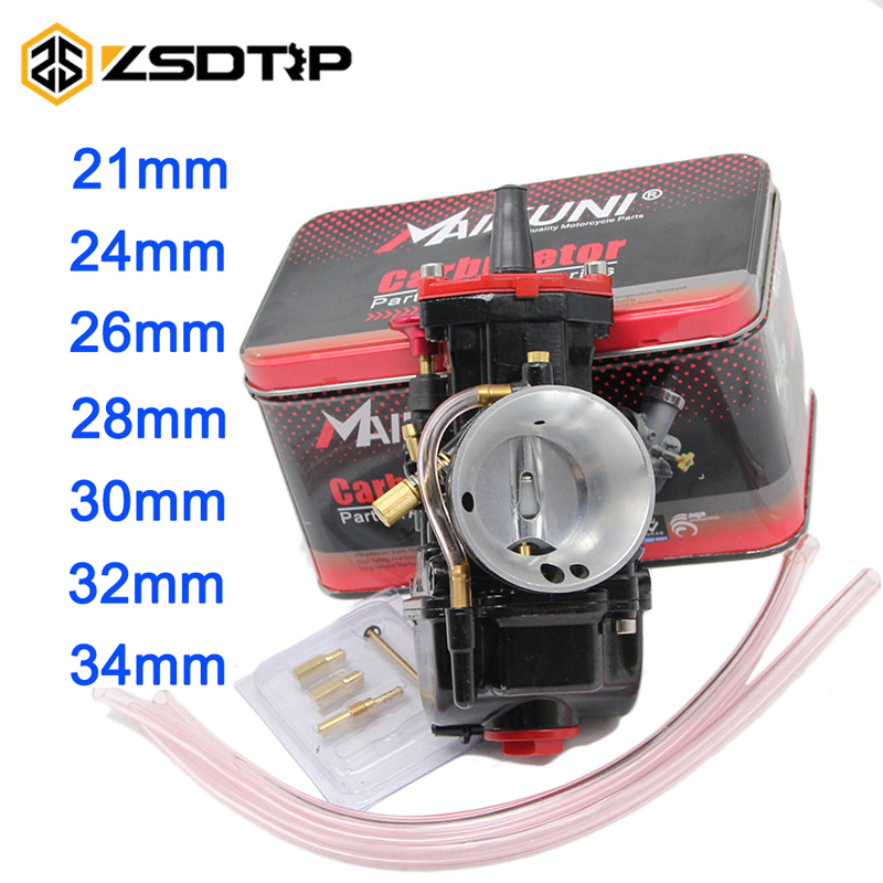 ZSDTRP brand new 21 24 26 28 30 32 34 mm Motorcycle Engine Part Carburetor Mikuni PWK Carburetor With Power Jet Dirt Bike ATV original 26mm mikuni carburetor for cbt125 cb125t cbt250 ca250 carburador de moto