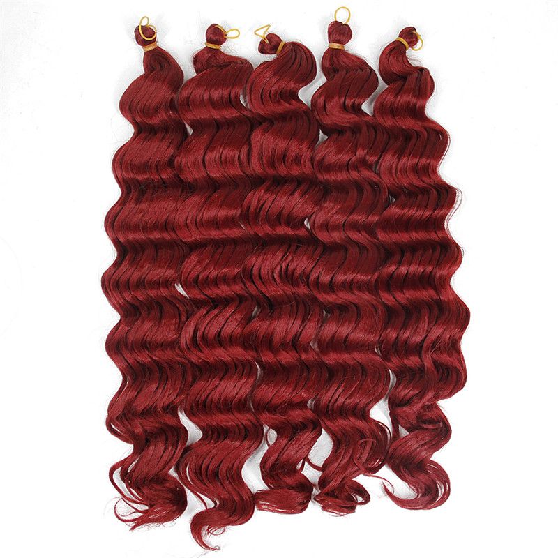 YXCHERISHAIR Synthetic Deep Wave Style 18 inch 80g/pack Hair Extensions Hair Weaving Bundles Single color FREE SHIPPING ...
