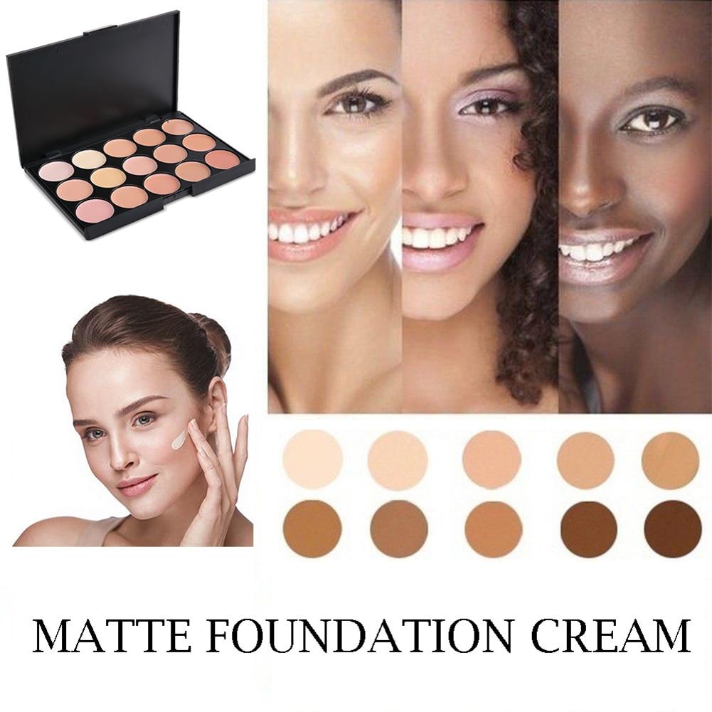 POPFEEL 15 Colors Face Concealer Palette Camouflage Cream Contour Maquillaje Profesional Corretivo Maquiagem Bronze Powder TSLM2