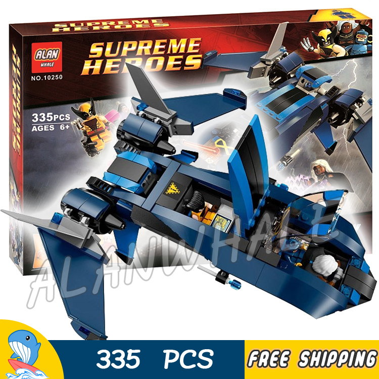 335pcs Super Heroes Avengers X-Men vs. The Sentinel Blackbird jet 10250 Model Building Blocks Toys Bricks Compatible With Lego стоимость