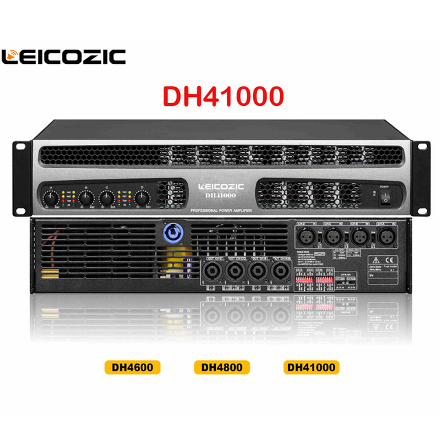 Leicozic Dh41000 Professional Power Amplifier 1000w X 4 Channel Amplifier 1500w Rms Line Array Subwoofer Amplifier