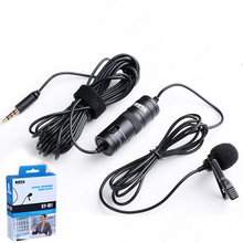 BOYA BY-M1 Lavalier Audio Video Phone Microphone Condenser Mic Recorder for Xiaomi iPhone 6 Plus Canon Nikon DSLR Zoom Camcorder boya by m1 lavalier omnidirectional condenser stereo microphone for dslr camcorders broadcasting recording