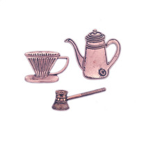 2018 vintage brooch elegant decorations A wholesale coffee pot an axe