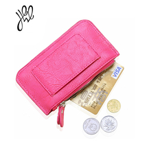 Fashion Small Wallets And Purses For Women Money Pocket Soft PU Leather Women Key Coin Holder Money Punch Key Card Clips 500548