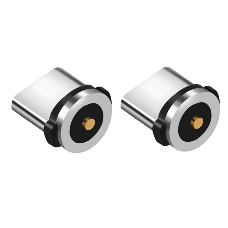 Image 2 - 2pcs/set Type C Magnetic Adapter Head Small Cellphone Dust Plug Charger Connector Tips for Phone Power Cable-in Data Cables from Consumer Electronics
